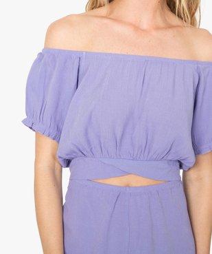 Combishort pyjama femme ouvert - Lulu Castagnette vue2 - LULUCASTAGNETTE - GEMO