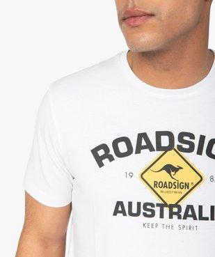 Tee-shirt homme à manches courtes imprimé - Roadsign vue2 - ROADSIGN - GEMO
