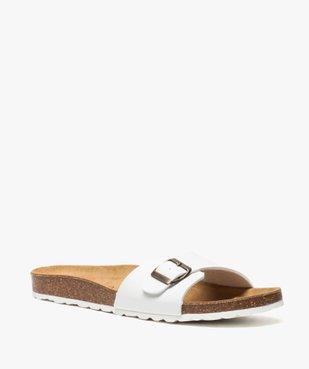 Sandales homme avec large bride à boucle vue2 - GEMO (CASUAL) - GEMO