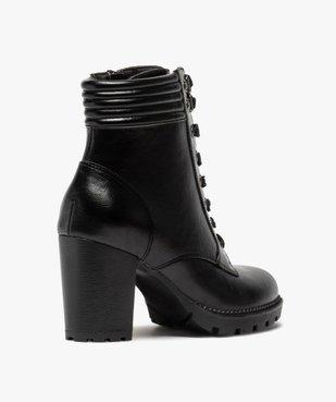 Boots femme à talon col rembourré et semelle crantée vue4 - Nikesneakers(URBAIN) - Nikesneakers