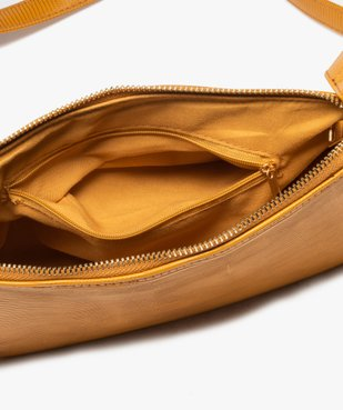 Sac besace femme texturé avec petit porte-monnaie vue3 - GEMO (ACCESS) - GEMO