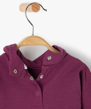 Tee-shirt bébé fille col roulé manches blousantes vue3 - GEMO C4G BEBE - GEMO