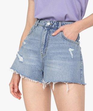 Short femme en jean aspect usé – Lulu Castagnette vue2 - LULUCASTAGNETTE - GEMO