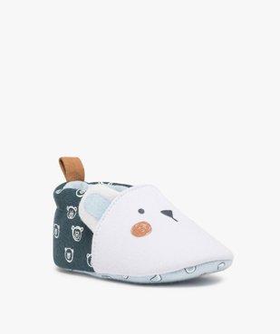 Chaussons de naissance bébé garçon imprimés tête d'ours vue2 - Nikesneakers(BB COUCHE) - Nikesneakers