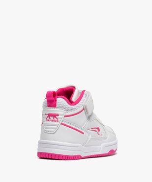 Baskets bébé fille montantes à scratch - Airness Vito vue4 - AIRNESS - GEMO