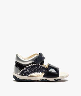 Sandales bébé fille à scratch détails vernis - Geox vue1 - GEOX - GEMO