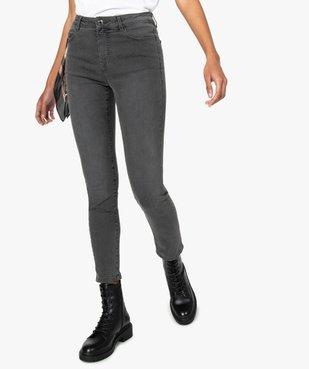 Jean femme coupe Slim taille haute vue1 - GEMO C4G FEMME - GEMO