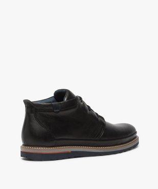 Boots homme lacés en cuir souple et semelle sport vue4 - GEMO(URBAIN) - GEMO
