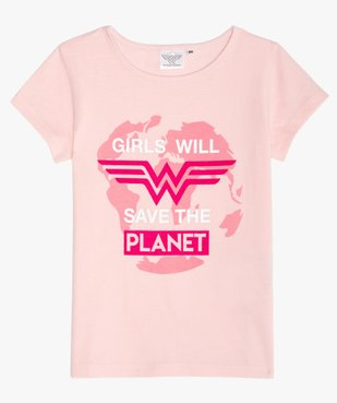 Tee-shirt fille avec motif multicolore – Wonder Woman vue1 - DC COMICS - Nikesneakers