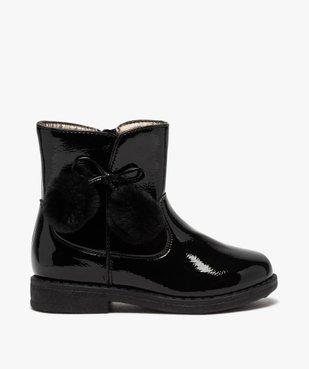 Boots fille vernies avec pompons sur le côté vue1 - Nikesneakers (ENFANT) - Nikesneakers