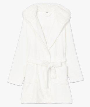 Peignoir femme avec capuche et ceinture vue4 - GEMO(HOMWR FEM) - GEMO