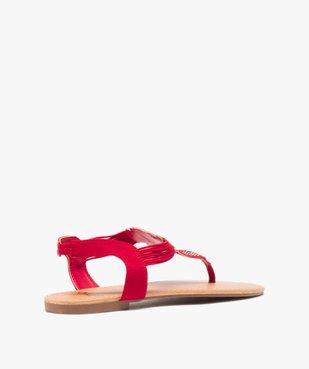 Sandales femme à entre-doigts brides élastiquées à strass vue4 - GEMO (CASUAL) - GEMO