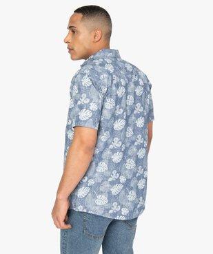 Chemise homme à manches courtes imprimé feuillage - Roadsign vue3 - ROADSIGN - GEMO