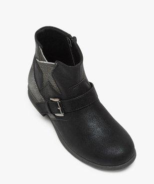 Boots fille zippés avec étoile pailletée sur le côté vue5 - Nikesneakers (ENFANT) - Nikesneakers