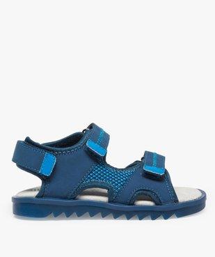 Sandales garçon à scratchs et semelle intérieure cuir vue1 - Nikesneakers (ENFANT) - Nikesneakers