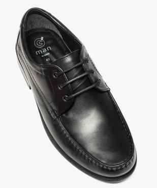 Mocassins homme à lacets dessus et intérieur cuir vue5 - Nikesneakers(URBAIN) - Nikesneakers