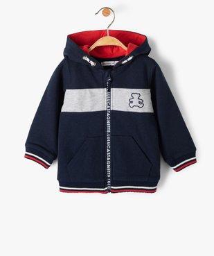 Sweat bébé garçon zippé à capuche – Lulu Castagnette vue1 - LULUCASTAGNETTE - Nikesneakers