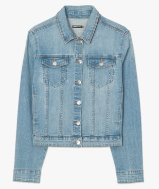 Veste en jean femme coupe large et courte vue5 - GEMO(FEMME PAP) - GEMO