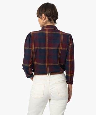 Chemise femme à carreaux 100% coton vue3 - GEMO(FEMME PAP) - GEMO