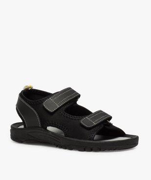Sandales garçon à semelle crantée et fermeture scratch vue2 - Nikesneakers (ENFANT) - Nikesneakers