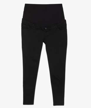 Jean de grossesse coupe slim avec bandeau jersey taille haute vue4 - GEMO (MATER) - GEMO