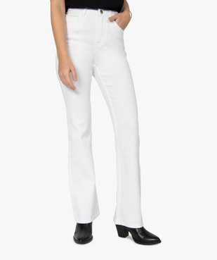Jean femme coupe Flare taille haute vue1 - GEMO(FEMME PAP) - GEMO