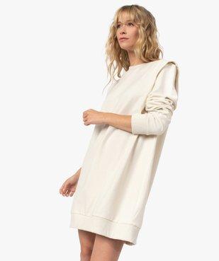 Robe femme sweat avec épaulettes - LuluCastagnette vue5 - LULUCASTAGNETTE - GEMO