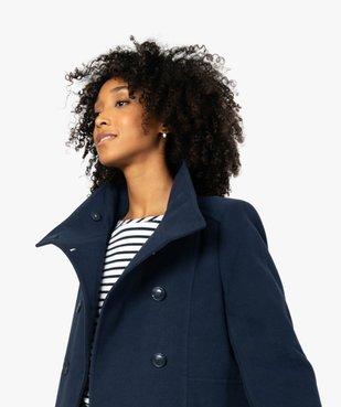 Manteau court femme avec double rangée de boutons vue1 - Nikesneakers(FEMME PAP) - Nikesneakers