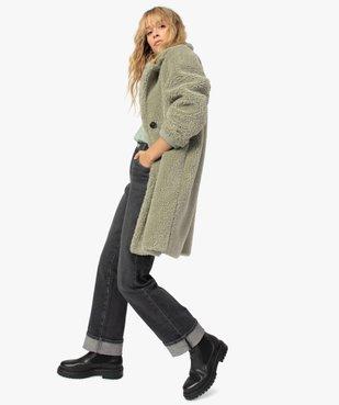 Manteau femme en sherpa fermeture boutons vue1 - Nikesneakers(FEMME PAP) - Nikesneakers
