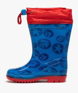 Bottes de pluie garçon à col ajustable – Avengers vue3 - AVENGERS - GEMO