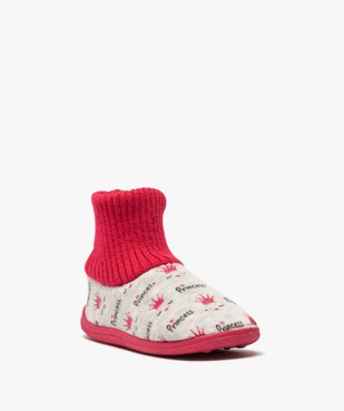 Chaussons fille boots en velours et bord côte vue2 - GEMO C4G FILLE - GEMO
