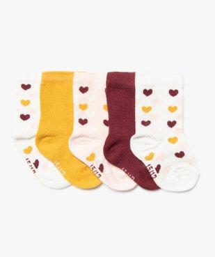 Chaussettes bébé fille modèles variés (lot de 5) vue1 - Nikesneakers C4G BEBE - Nikesneakers