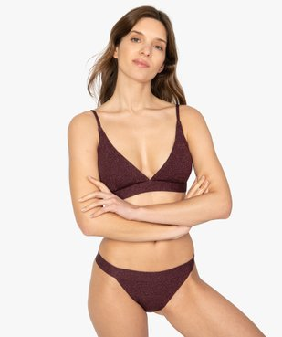 Haut de maillot de bain femme triangle vue2 - GEMO (PLAGE) - GEMO