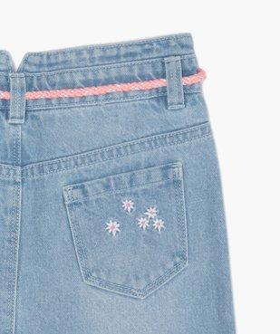 Jupe fille en jean avec pinces et ceinture – Lulu Castagnette vue4 - LULUCASTAGNETTE - GEMO