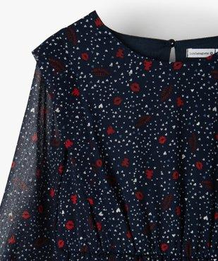 Robe fille imprimée à manches longues – Lulu Castagnette vue2 - LULUCASTAGNETTE - Nikesneakers