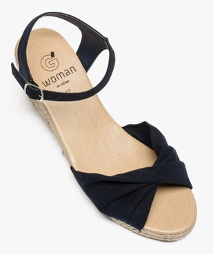 Sandales femme à talon compensé en corde vue5 - GEMO(URBAIN) - GEMO