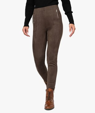 Pantalon femme en velours coupe ajustée vue1 - GEMO(FEMME PAP) - GEMO