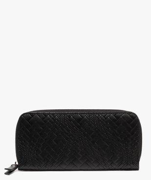 Portefeuille femme en matière texturée vue1 - GEMO (ACCESS) - GEMO