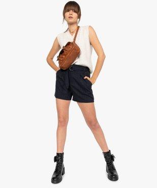 Short femme à taille haute et carreaux vue5 - GEMO(FEMME PAP) - GEMO