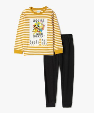 Pyjama garçon bicolore avec motifs XXL - Disney vue1 - DISNEY DTR - GEMO