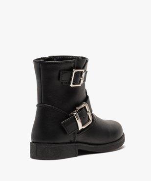 Boots fille unis avec boucles décoratives fermeture zippée vue4 - GEMO (ENFANT) - GEMO
