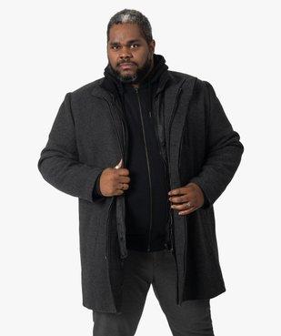 Manteau homme effet 2-en-1 à col amovible vue1 - GEMO (HOMME) - GEMO