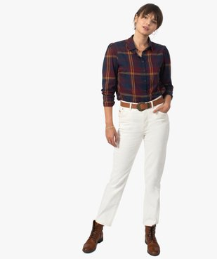 Jean femme coupe Straight taille haute vue5 - GEMO(FEMME PAP) - GEMO