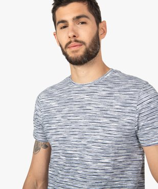Tee-shirt homme à manches courtes et rayures vue2 - GEMO (HOMME) - GEMO