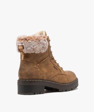 Boots fourrées femme à col rembourré et semelle crantée vue5 - GEMO (CASUAL) - GEMO