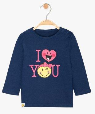 Tee-shirt bébé fille à manches longues motif - SmileyWorld vue1 - SMILEY - GEMO
