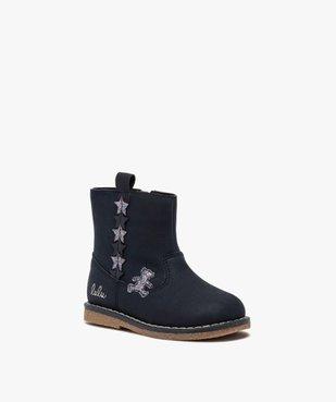 Boots bébé fille zippés à détails pailletés – Lulu Castagnette vue2 - LULU CASTAGNETT - GEMO