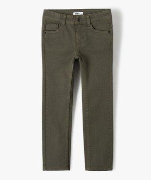 Pantalon garçon uni coupe Slim extensible  vue1 - GEMO (ENFANT) - GEMO