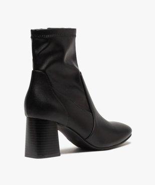 Boots femme unies à talon carré et col ajusté vue4 - GEMO(URBAIN) - GEMO