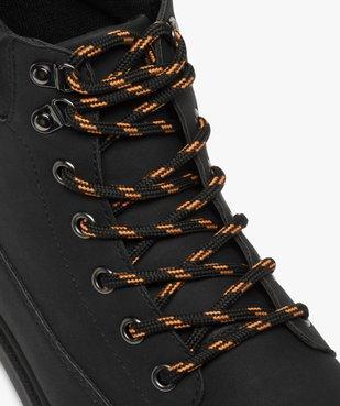 Boots homme à semelle crantée et lacets - Les Supaires à lacets bicolores vue6 - GEMO (CASUAL) - GEMO
